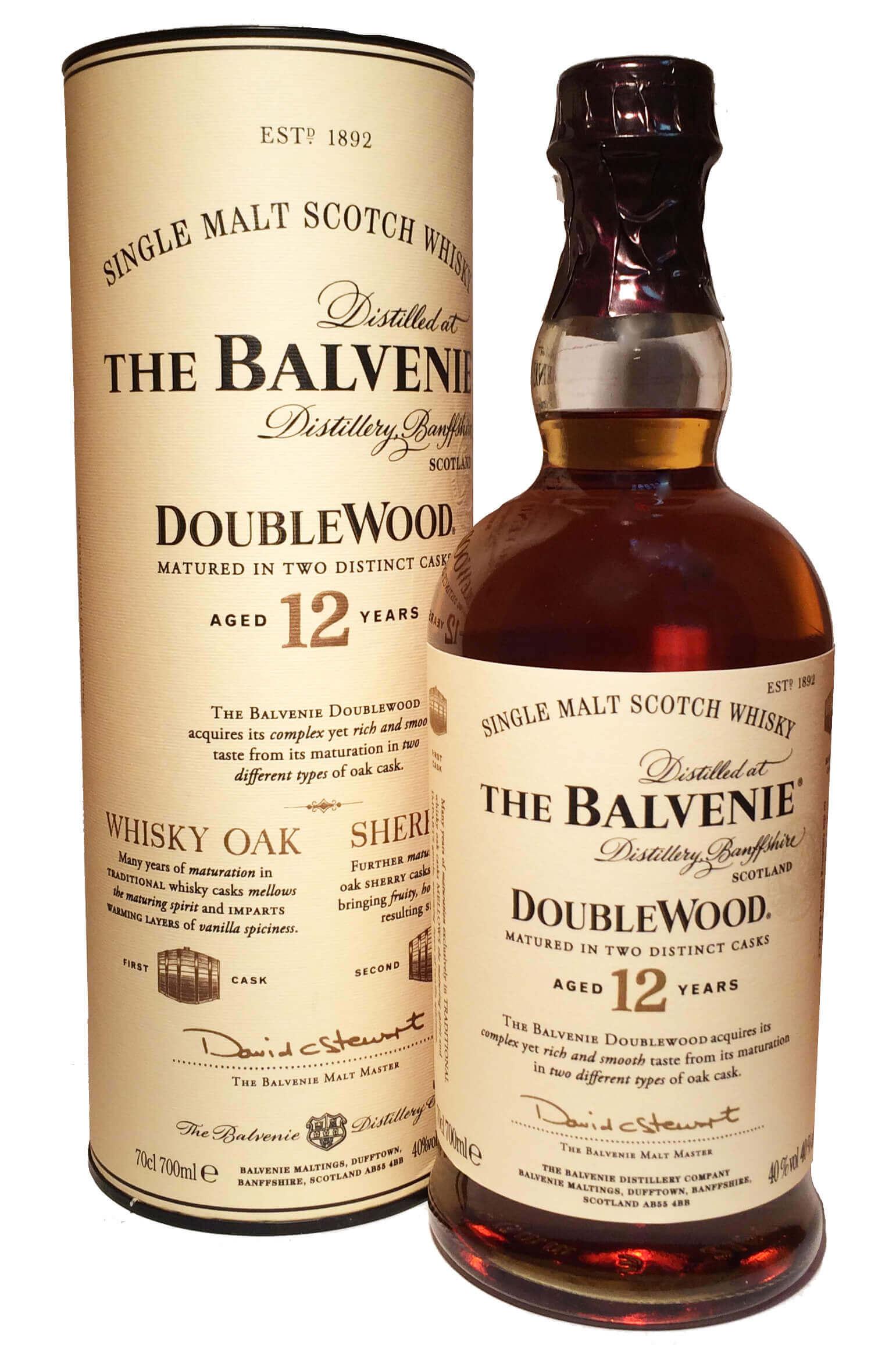 the balvenie doublewood single malt scotch whisky 12 jahre